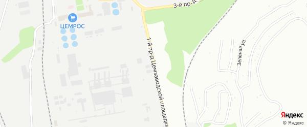 Площадка Базовая проезд-1 на карте территории Юго-западный промрайон с номерами домов