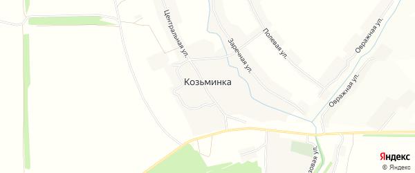 Карта села Козьминки в Орловской области с улицами и номерами домов