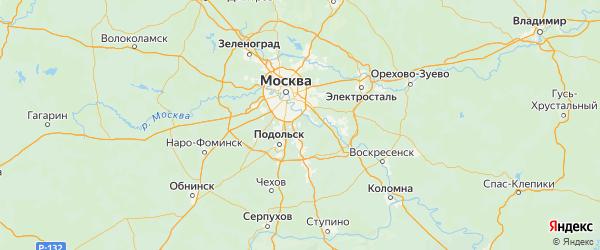 Карта Ленинского района Московской области с городами и населенными пунктами