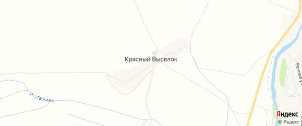 Карта поселка Красного Выселка в Белгородской области с улицами и номерами домов