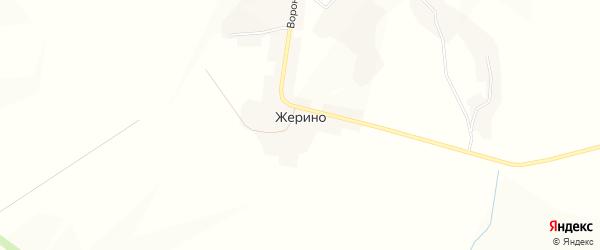 Карта села Жерино в Орловской области с улицами и номерами домов