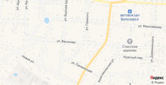 Улица Максима Горького в Белозерске с номерами домов на карте. Спутник и схема онлайн