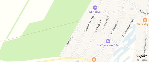 Лесная улица на карте Должанской станицы Краснодарского края с номерами домов