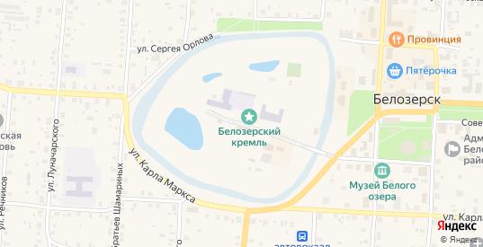 Улица Вал в Белозерске с номерами домов на карте. Спутник и схема онлайн