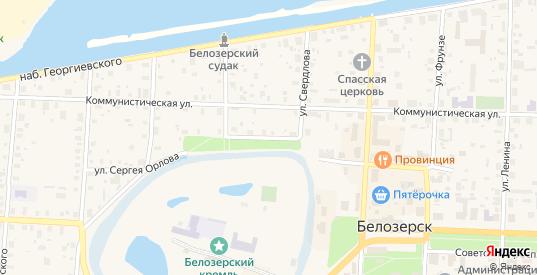 Улица Сергея Орлова в Белозерске с номерами домов на карте. Спутник и схема онлайн