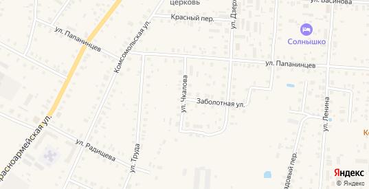 Улица Чкалова в Белозерске с номерами домов на карте. Спутник и схема онлайн