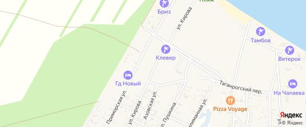 Новый переулок на карте Должанской станицы Краснодарского края с номерами домов