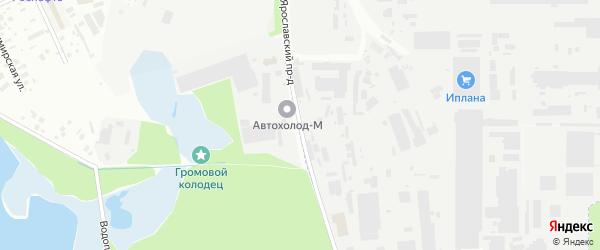 Ярославский проезд на карте Королёва с номерами домов