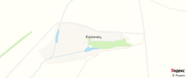 Карта деревни Калинца в Орловской области с улицами и номерами домов