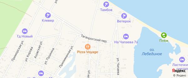 Таганрогский переулок на карте Должанской станицы Краснодарского края с номерами домов