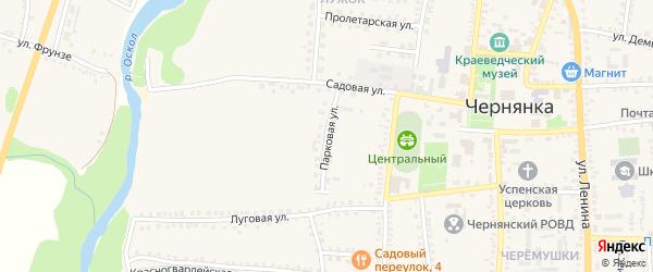 Парковая улица на карте поселка Чернянка с номерами домов