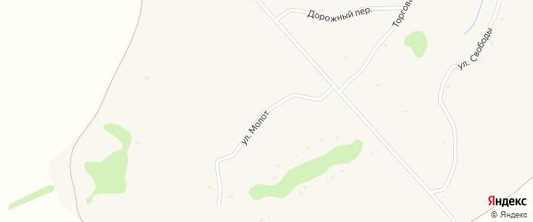 Улица Молот на карте села Свободной Дубравы Орловской области с номерами домов