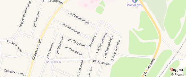 Лесная улица на карте поселка Чернянка с номерами домов