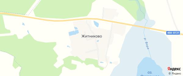 Карта деревни Житниково в Московской области с улицами и номерами домов