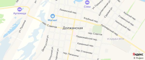 Карта Должанской станицы в Краснодарском крае с улицами и номерами домов
