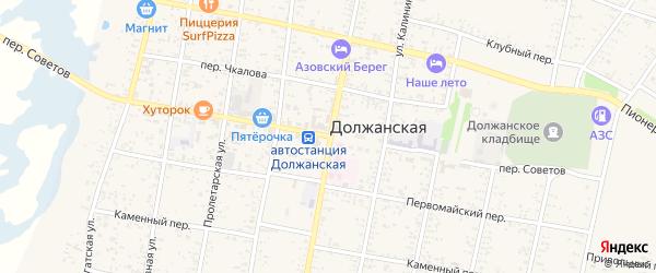 Улица Усадьба МТМ на карте Должанской станицы Краснодарского края с номерами домов