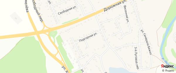 Подгорная улица на карте села Каплино с номерами домов