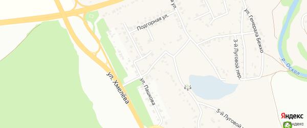 4-й Луговой переулок на карте села Каплино с номерами домов