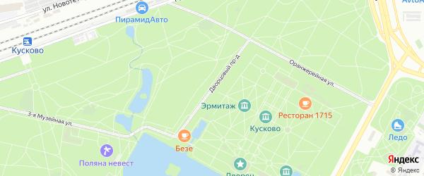 Дворцовый проезд на карте Москвы с номерами домов