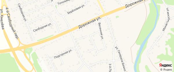 1-й Весенний переулок на карте села Каплино с номерами домов