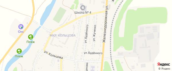 Улица Буденного на карте поселка Чернянка Белгородской области с номерами домов