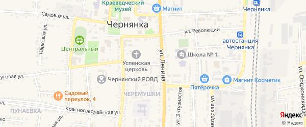Улица 5 Августа на карте поселка Чернянка с номерами домов