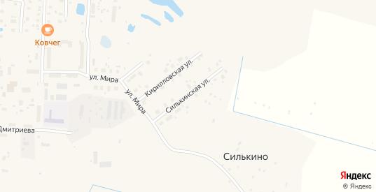 Силькинская улица в Белозерске с номерами домов на карте. Спутник и схема онлайн