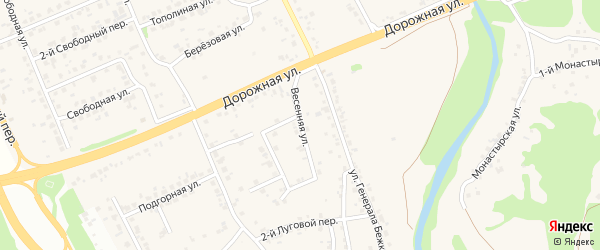 Весенняя улица на карте села Каплино с номерами домов