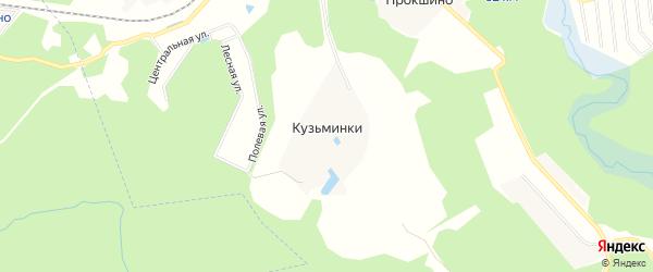 Карта деревни Кузьминок в Московской области с улицами и номерами домов
