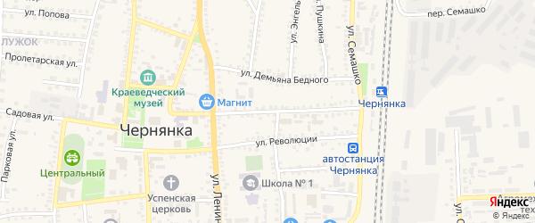 Улица 20 годовщина Октября на карте поселка Чернянка Белгородской области с номерами домов