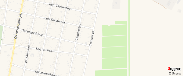 Степная улица на карте Должанской станицы Краснодарского края с номерами домов