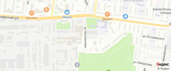 Улица Богомолова на карте Королёва с номерами домов