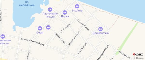 Переулок Островского на карте Должанской станицы Краснодарского края с номерами домов