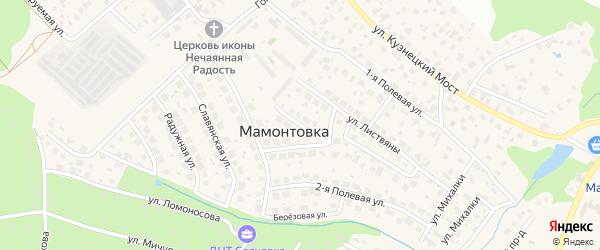 Фруктовая улица на карте микрорайона Мамонтовка с номерами домов