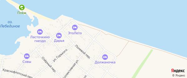 Приморский переулок на карте Должанской станицы Краснодарского края с номерами домов