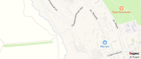 Привокзальная улица на карте Болохово с номерами домов