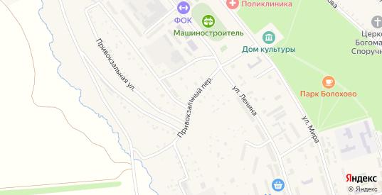Привокзальный переулок в Болохово с номерами домов на карте. Спутник и схема онлайн