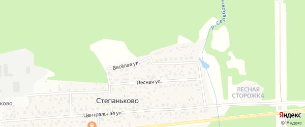 Веселая улица на карте деревни Степаньково с номерами домов