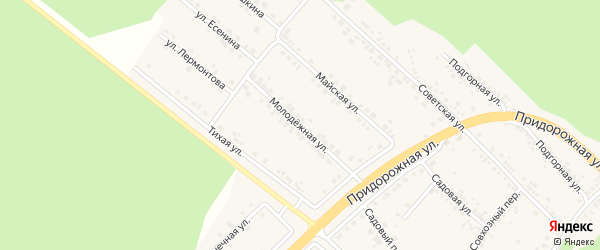 Молодежная улица на карте села Ниновки с номерами домов