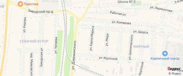 Улица Карла Маркса на карте поселка Чернянка с номерами домов