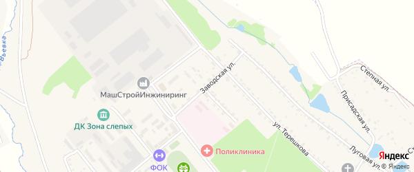 Заводская улица на карте Болохово с номерами домов