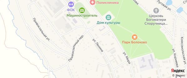 Улица Ленина на карте Болохово с номерами домов