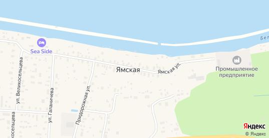 Ямская улица в Белозерске с номерами домов на карте. Спутник и схема онлайн