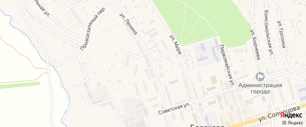 Улица Горняков на карте Болохово с номерами домов
