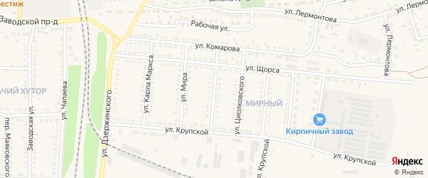 Интернациональная улица на карте поселка Чернянка с номерами домов