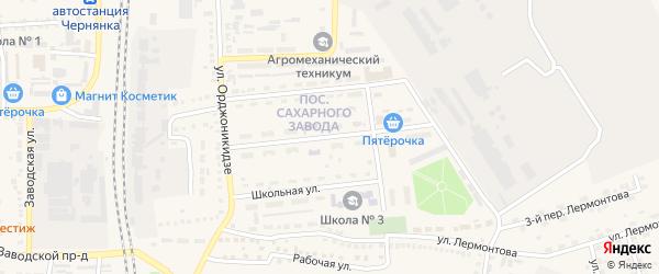 Строительная улица на карте поселка Чернянка с номерами домов