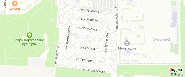 Улица Белинского на карте Королёва с номерами домов