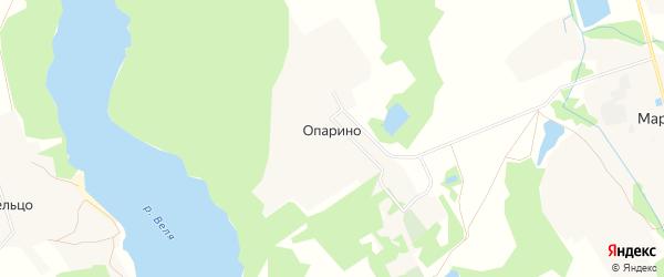 Карта деревни Опарино в Московской области с улицами и номерами домов