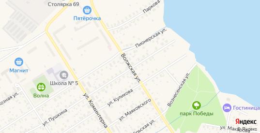 Волжская улица в Калязине с номерами домов на карте. Спутник и схема онлайн
