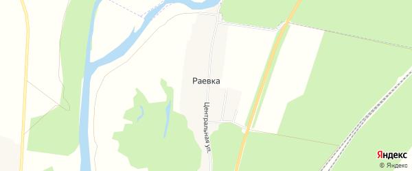 Карта хутора Раевки в Белгородской области с улицами и номерами домов